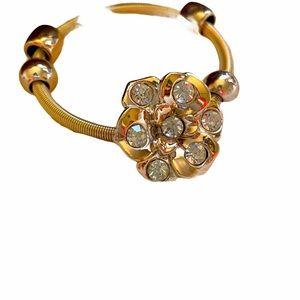 CAROL GOLD FLOWER ELASTIC BRACELET